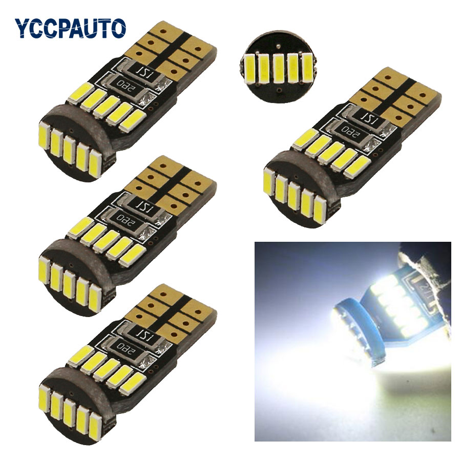 T10 LED Lights Canbus Car Auto Lamp Bulb Side Light For CITROEN C4 C5 C3 C2 Berlingo Xsara Saxo W5W White 4x High Quality 2pcs 12v 31mm 36mm 39mm 41mm canbus led auto festoon light error free interior doom lamp car styling for volvo bmw audi benz