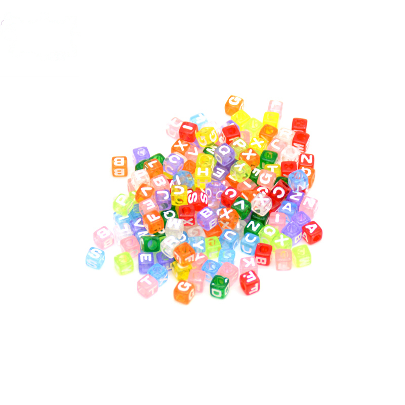 200pcs/set English Letter Alphabet Acrylic Bead Baby Teething Chewable Toy Letter Bead For Pacifier Chain Leash Decoration 6mm