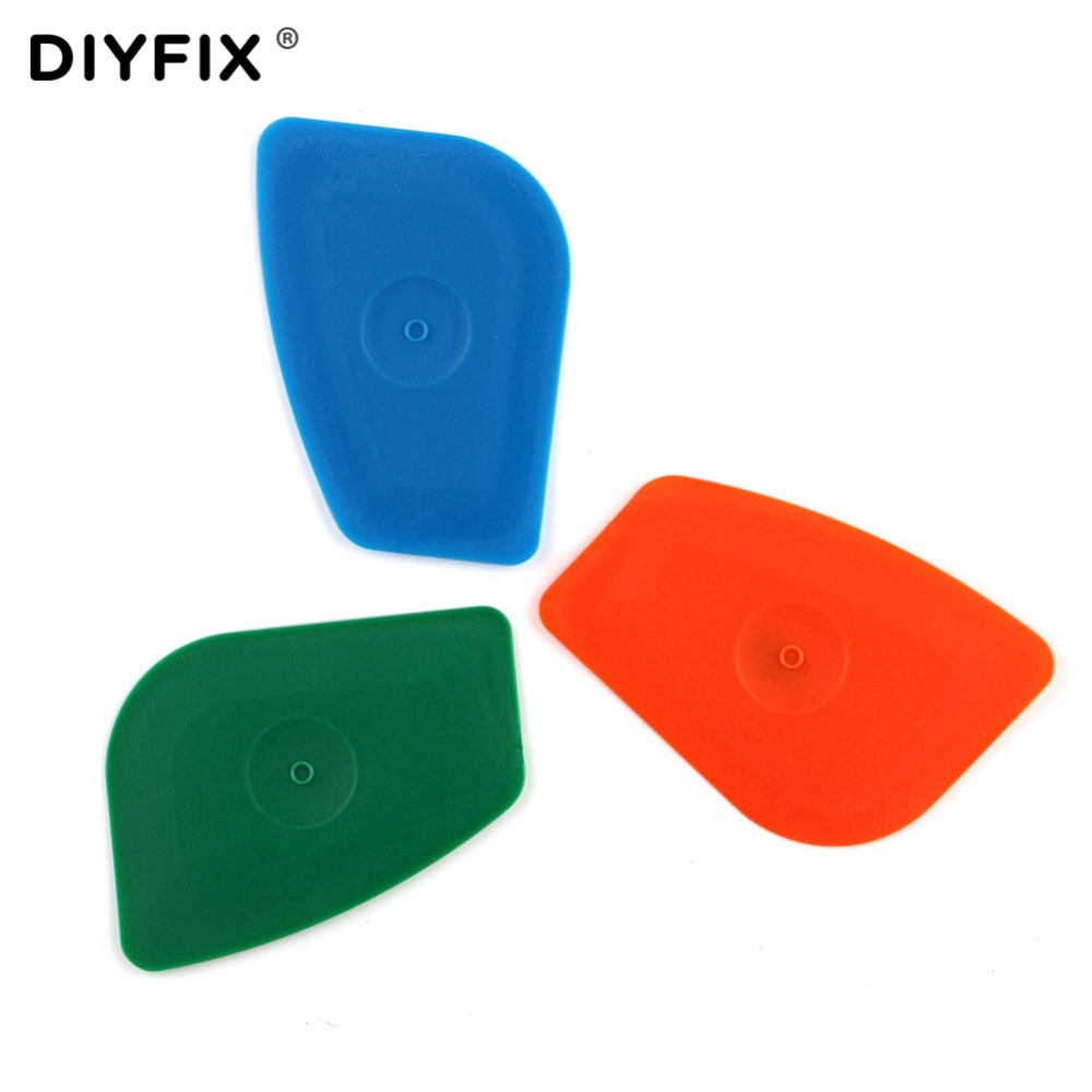 DIYFIX 5Pcs Cell Phone Opening Tool Handy Pry Card for iPhone Samsung Sony LCD Screen Back Housing Battery Disassemble Hand Tool handy wristwatch screen glass removal tool blue silver