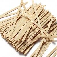 100 unidades/pacote novo americano de madeira 1000ml semi mão feita de madeira ce/ue infusor bule de chá descartável café de madeira mexa vara|Colheres de café|   -