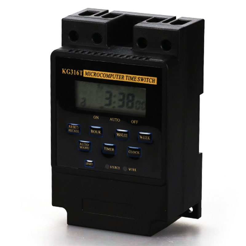 KG316T 25A Din Rail Digital Intelligent Microcomputer Programmable Electronic Timer Time Switch Relay Controller AC 220V digital programmable timer time relay microcomputer electronic digital timer switch relay control 12v din rail mount tp8a16