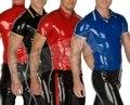 Горячая Продажа!!!! природа Латексные мужская Рубашка Кожа Плотно Латекс Зентаи Поло-рубашку 0.4 ММ Толщина Высокое Качество