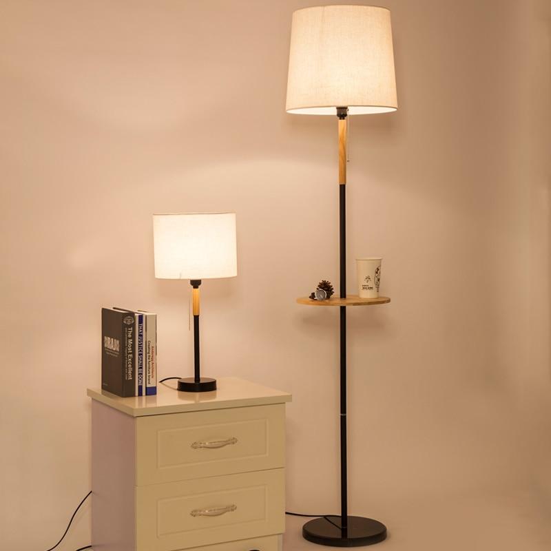nordique moderne lampadaire pour salon lampe chambre chevet decoratif tissu hotel bois eclairage lampadaires mz10