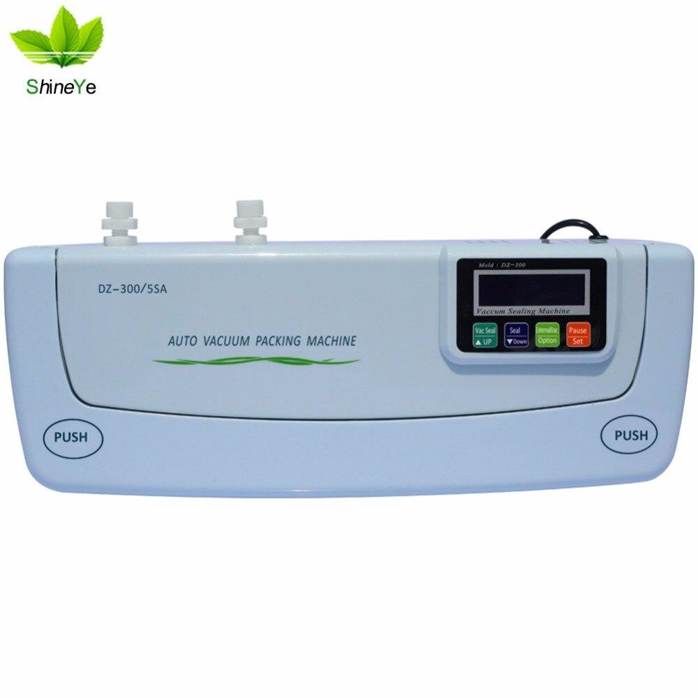 ShineYe DZ-300 220 v/110 v Haushalt Lebensmittel Vakuum Versiegelung Verpackung Maschine Film Sealer Vakuum Packer Einschließlich Taschen