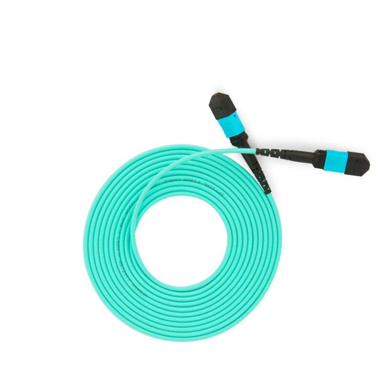 MPO MPO 12 Core Fiber Optic Patch Cord Cable 10GB 50/125 OM3 Multimode Fiber Optic Cable, 3M