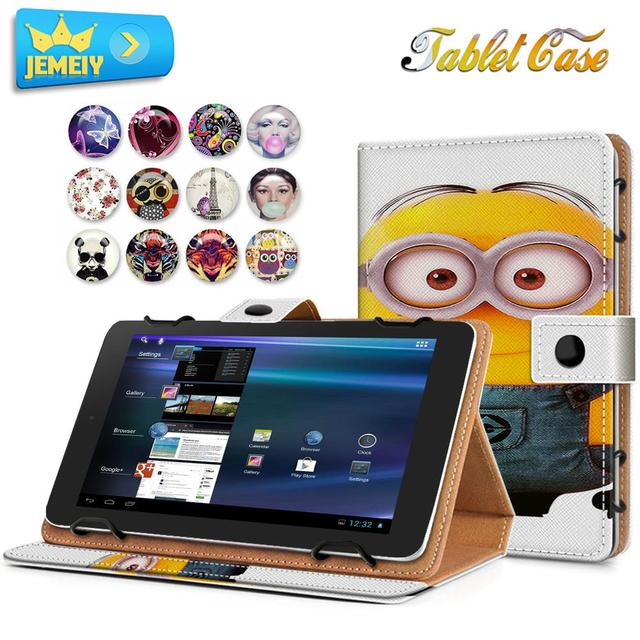 best cheap 5d765 6e15d US $12.99 |7''Tablet Case For Alcatel Onetouch Pixi 7/Alcatel Onetouch Pop  7 leather case Cartoon Print Universal tablet cover For Alcatel-in Tablets  ...
