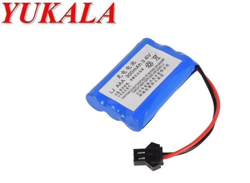YUKALA 3.6V 300mAh Ni-MH rechargable AAA battery for RC Truck/ RC car/ RC boat /RC tank 4pcs/lot