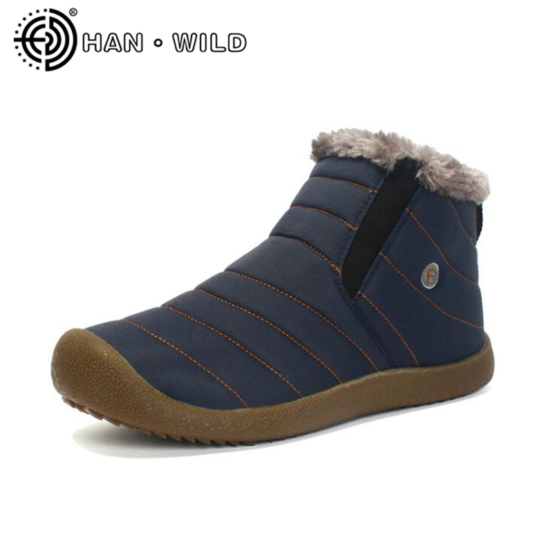 Size35 48 Waterproof Men S Winter Ankle Boots Unisex Snow Boots Warm Fur Inside Antiskid Bottom Keep Warm Men Casual Boots