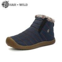 Size35 48 Waterproof Men S Winter Ankle Boots Unisex Snow Boots Warm Fur Inside Antiskid Bottom Keep Warm Men Casual Boots