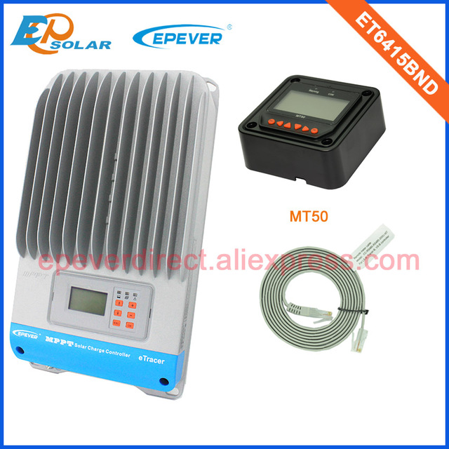 MPPT 60A portable solar panel charger ET6415BND with MT50 remote meter for home use