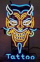Custom Devil Tattoo Glass Neon Light Sign Beer Bar