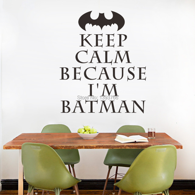 Im batman keep calm wall art stickers for kids rooms decal diy home decoration