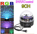 9 Channel DMX512 Control Digital LED RGB Crystal Magic Ball Effect Light DMX Disco DJ Stage Lighting Free Shipping