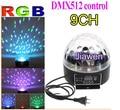 9 canal DMX512 Control Digital LED RGB Crystal Magic Ball efecto de luz DMX del Disco de DJ etapa de iluminación envío gratis