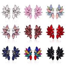 HOCOLE Fashion Crystal Rhinestone Drop Earrings For Women Handmade Korean Statement Dangel Earring Female Jewelry Brincos 2019