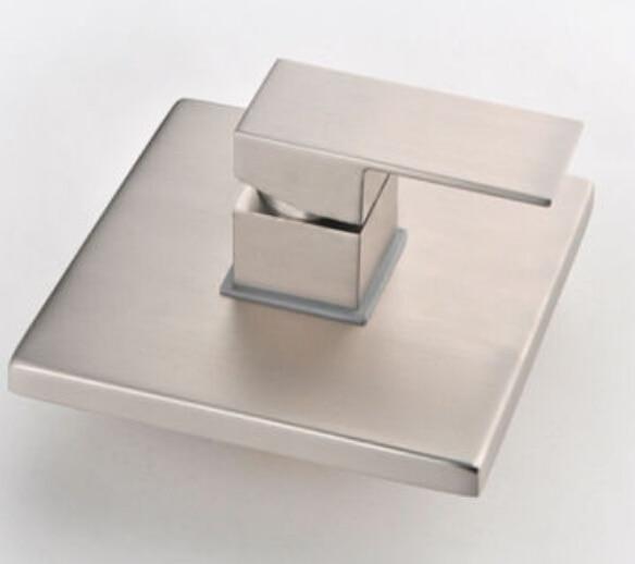 Wholesale And Retail Modern Brushed Nickel Shower Valve Square Single Handle Shower Faucet Control Valve Wall Mount Mixer Valve чехол из натуральной кожи для случая gionee s10 природная жемчужная кожаная обложка для чехла m6 plus