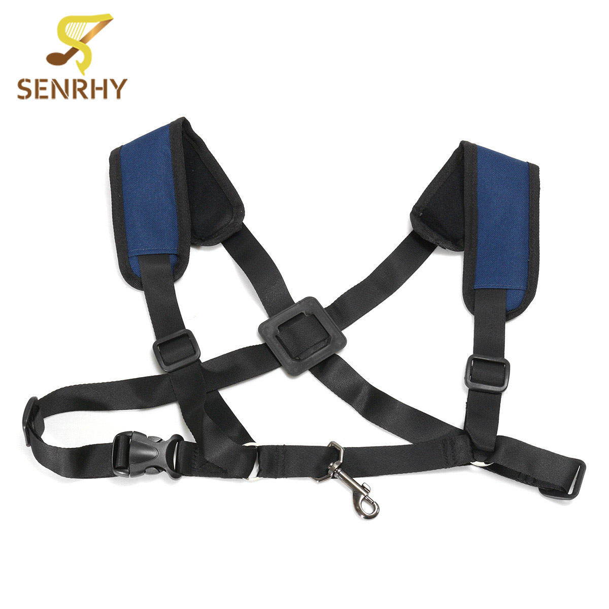 Harness Shoulder Strap Black Adjustable Tenor Baritone Sax Saxophone Woodwind Instruments Parts Accessories