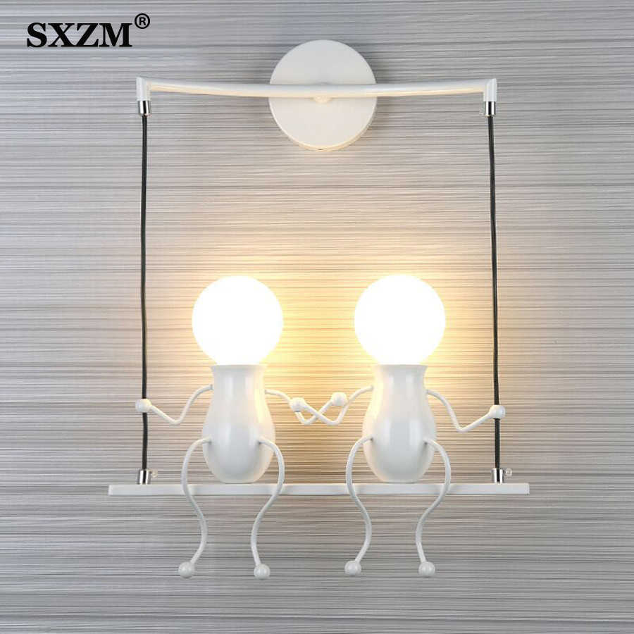 E27 Modern LED Wall Lamp Creative Mounted Iron Sconce Wall Light for Bedroom Corridor Wall Light Wall mounted lampara pared