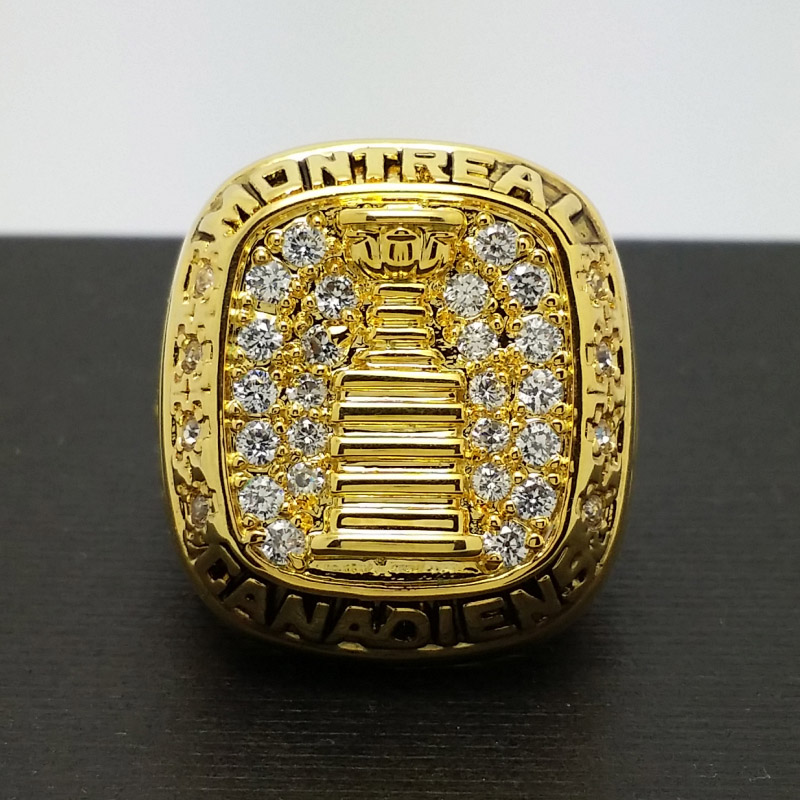 1960 Montreal Canadiens Stanley <font><b>Cup</b></font> Hockey Championship Copper <font><b>Ring</b></font> 8-14Size 18K plated collection Fans Gift