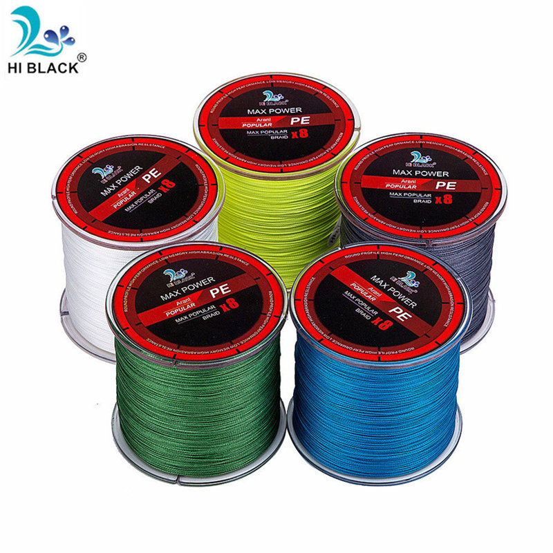 14LB to 120LB 300M Five colors 8 strands Japanese high-quality multifilament high-quality fishing line braided cord for fishing