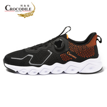 Crocodile Men Running Shoes Air Mesh Male Jogging Sneaker Cushioning Light Trainer for Athletic Sport Footwear