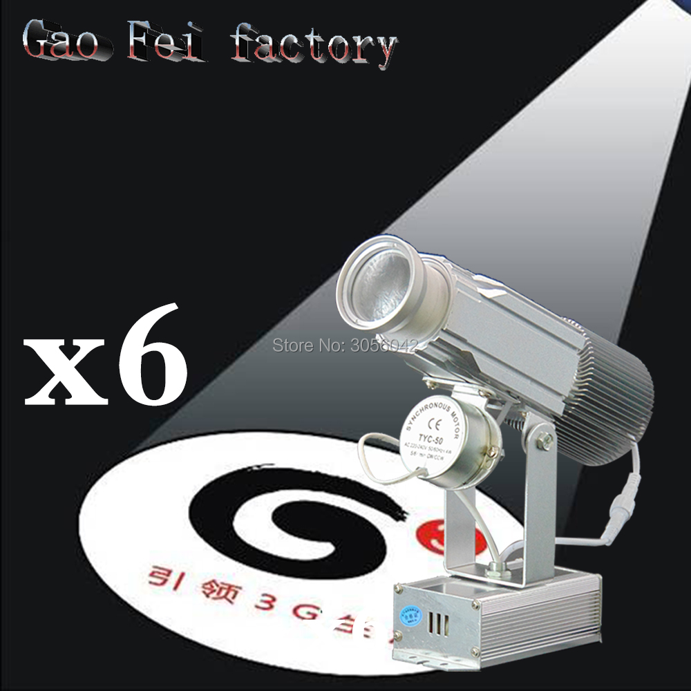 6PCS/LOT Logo Projector High Wattage Gobo Project Stage Professional Lighting Unit Shop Image Restaurant Mall Hotel Bar 2pcs lot logo project lens shop light mall restaurant custom logo projector projection log bar disco advertising led