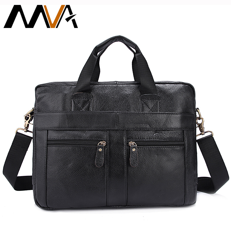 MVA Genuine Leather Messenger Bag Men Men's Shoulder Crossbody Bags Laptop Bag Male Casual Totes Bags Men Leather Handbags 312 mva men s briefcase leather laptop bag 14 genuine leather men bag men messenger shoulder bags men s crossbody bags handbags