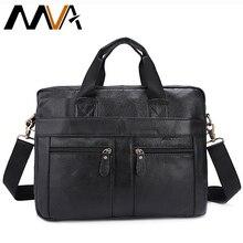 MVA Echtes Leder Männer Tasche Messenger Bags herren Aktentasche 13 zoll Laptop-tasche Portfolio männer Schulter Crossbody taschen