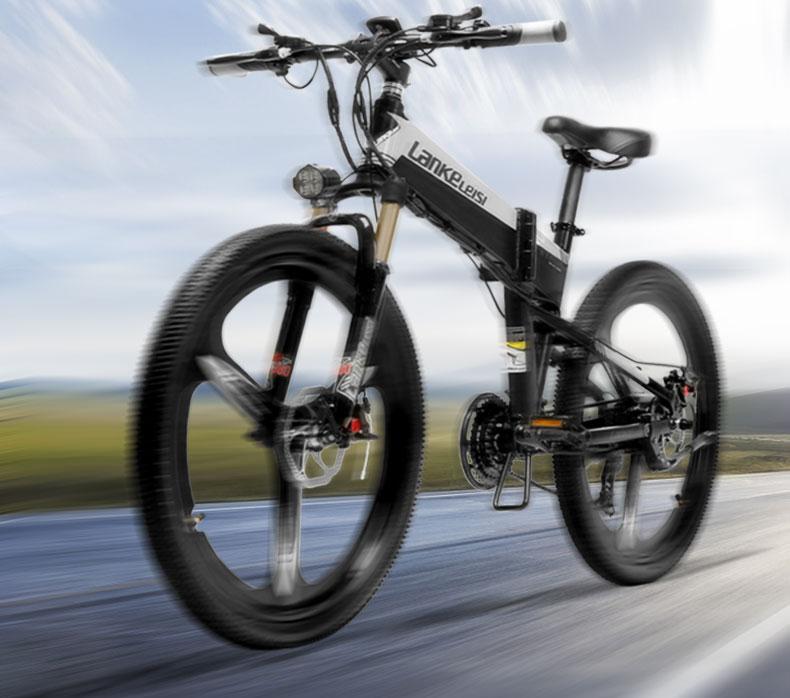 HTB1C7vjXUrrK1RkSne1q6ArVVXai - 26inch electric mountian bicycle folding  frame 48V  lithium battery hidden frame 400w high speed motor range 60-100km