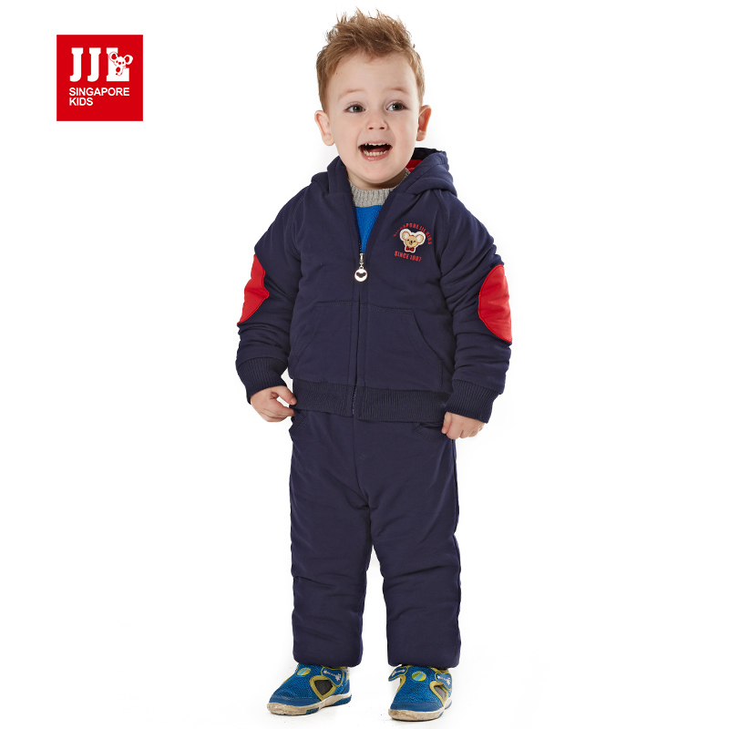 2015 new baby boy clothes winter suit newborn baby winter clothing hooded baby clothing set thick warm outfits for boy