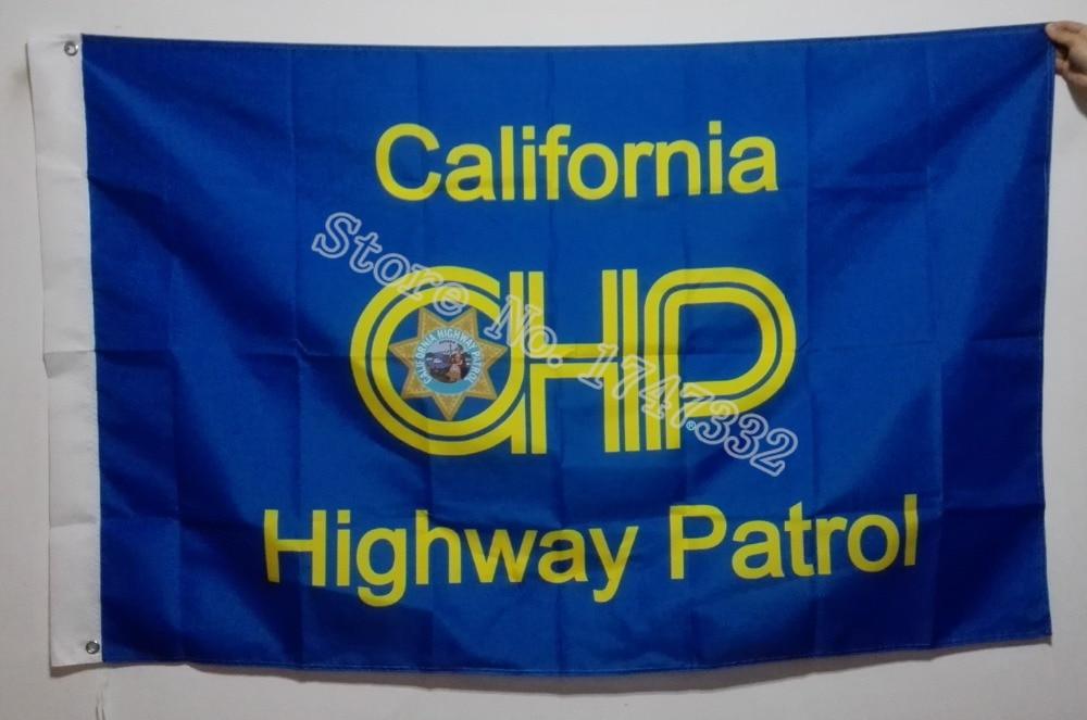 California Highway Patrol Flag hot sell goods 3X5FT 150X90CM Banner brass metal holes