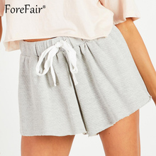Forefair Summer Casual Drawstring Sweat Shorts Women Knitted Loose Sho