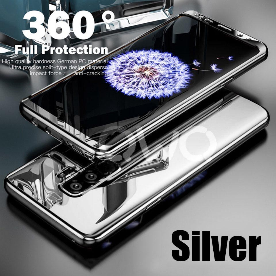 360 Degree Plating Mirror Cases For Samsung Galaxy S9 S8 S10 Plus S7 Edge Full Cover Protective For Samsung Note 9 8 Case Cover