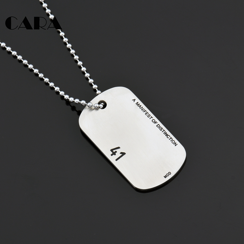 Stainless Steel Polished Dog Tag Necklace