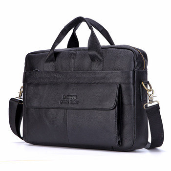 Brand Men Briefcase Genuine Leather Bag Cowhide Men Handbag Large Capacity Male Bag Laptop Messenger Bags Leather Shoulder Bags laptop bag 14 inch laptop shoulder bag fashion brand laptop messenger bag leather bag for laptop luxury men briefcase handbag