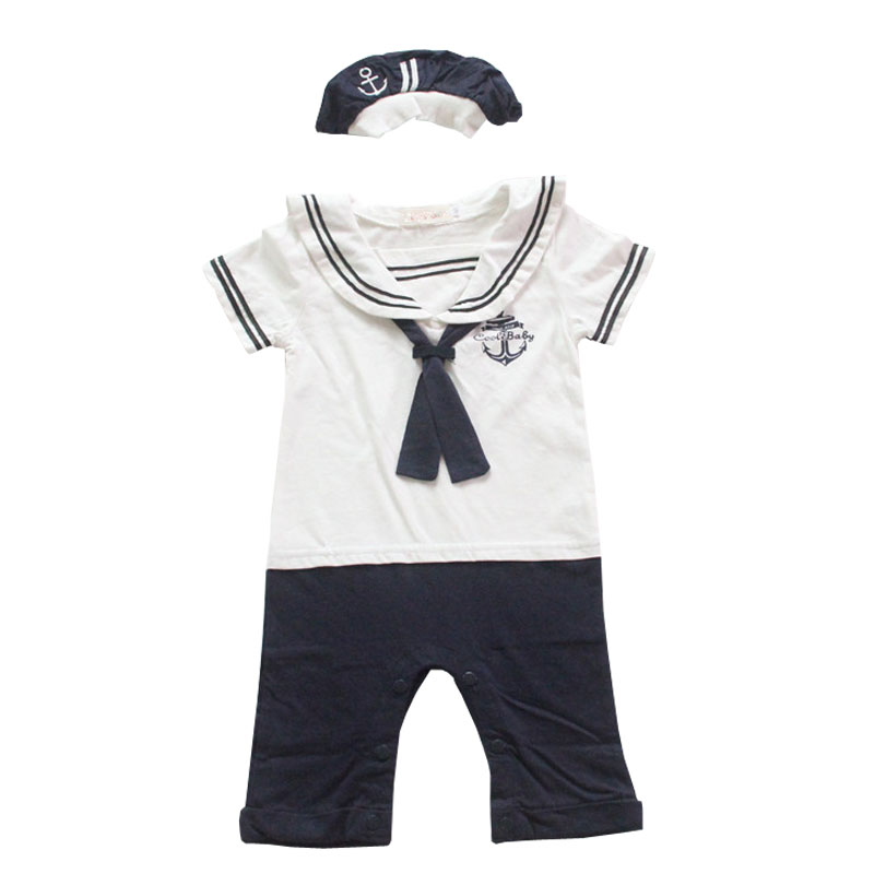 NewBorn-Baby-Dress-Summer-Cotton-Bow-Baby-Rompers-for-girls-Kids-Scarf-Navy-Overall-Bebes-Sailor-Style-Jumpsuit-baby-cloth-baby-4