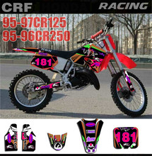 Customized Number Gloss TEAM GRAPHICSBACKGROUNDS DECALS STICKERS For Honda CR250 CR 250 1995
