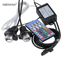Wholesale price Free Shipping IR control RGBW E90 LED Marker Angel Eyes for BMW E90 E91