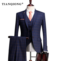 TIAN QIONG Custom Made Wedding Tuxedos Men Suits Taliored Event Ceremony Tuxedos Jacquard Wool Fabric Jacket