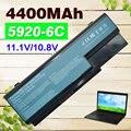4400 mah batería del ordenador portátil para acer aspire 5930g 6530 6530g 6920 6920g 6930 6930g 6935 6935g 7220 7230 7330 7520