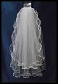Дешевые белый фаты белый фату двойных слоев невест вуаль свадебное платье вуали 2016