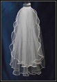 Blanco barato boda velos nupciales blancos velos capas dobles de las novias veil velos del vestido de boda 2016