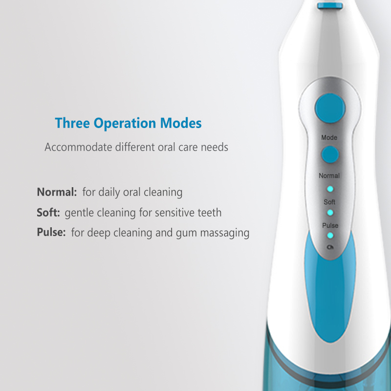 Professional Oral Irrigator Portable Cordless Water Flosser 180mL Rechargeable Electric Dental Irrigator 4 Rotatable Jet Tips