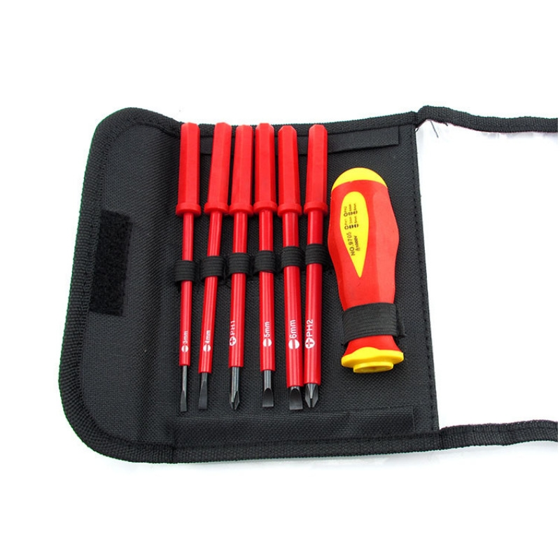 7 in 1 Multifunction Screwdriver Set Magnetic Silica gel+steel Screw Driver Slotted Phillips Screwdrivers Hand  drop ship