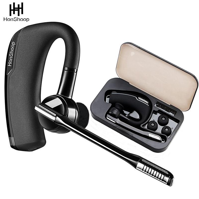 V Bluetooth Headset HandsFree Wireless Stereo  Bluetooth Headphones Car Driver Handsfree