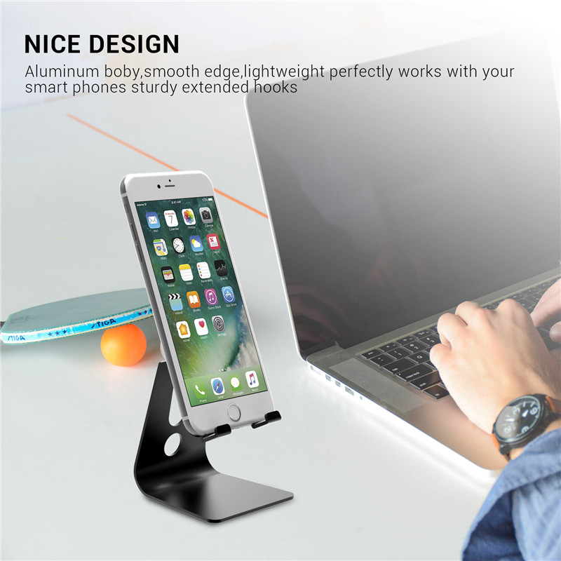 NTSPACE Universal Phone Bracket Adjustable Phone Stand Holder for iPhone 7 8 X Foldable Table Stand For Samsung S8 Xiaomi Huawei in Phone Holders Stands from Cellphones Telecommunications