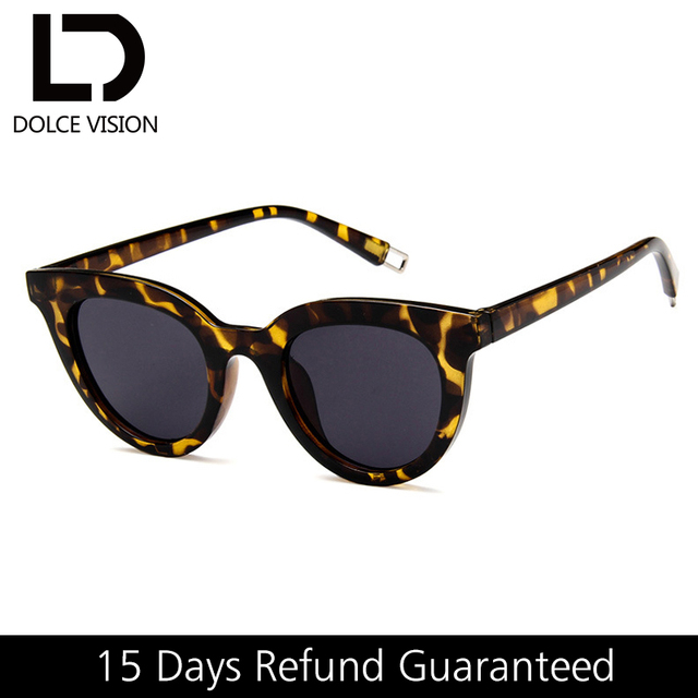 23cd6397b9cf DOLCE VISION Tortoiseshell Cat Eye Sunglasses Women Retro Brand Design  Shades High Quality Female Sunglasses Vintage Lunette New