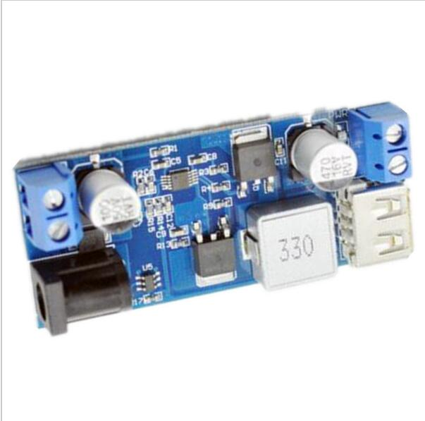 5A step-down DC power supply module 12 / 24V to 5V synchronous rectifier car charger source converter 10 pcs lot dc dc buck converter step down voltage module 6v 12v 20v 24v adjustable power supply 7 40v to 1 2 35v 8a 300w