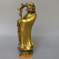 Christmas 10 Tibet Buddhism Fane Bronze Stand Arhat Damo Bodhidharma Dharma Buddha Statue Halloween.