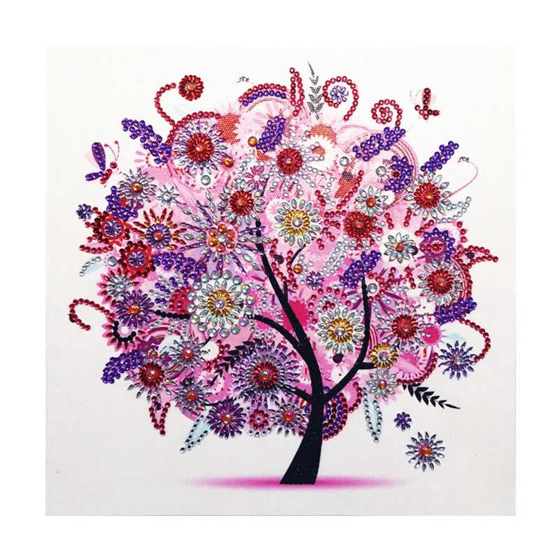 5D DIY diamond embroidery four seasons flower tree special shape diamond painting rhinestone crystal diamond new shelves home de